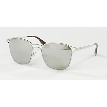 Prada Silver Lens (Prada 54TS 1BC2B0 Silver 54TS Square Sunglasses Lens Category 3 Lens Mirrored S)