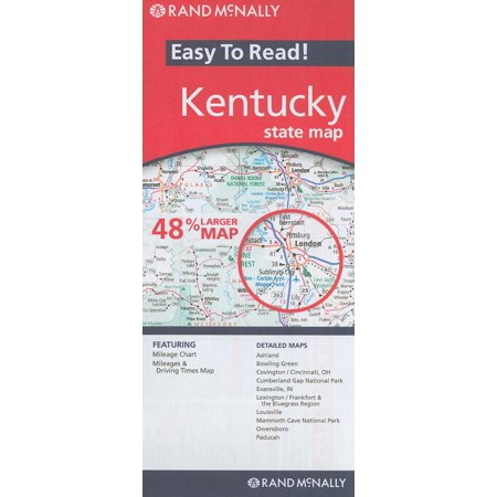 Rand mcnally easy to read! kentucky state map: 9780528881312