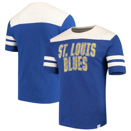 St. Louis Blues Fanatics Branded True Classics Throwback Slub T-Shirt - Blue/Cream - Throwback Clothes Ideas