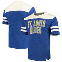 St. Louis Blues Fanatics Branded True Classics Throwback Slub T-Shirt - Blue/Cream