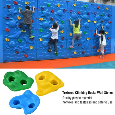 10Pcs Multi-colour Textured Climbing Rocks Wall Stones Kids Assorted Kit Bolt, Rock Climbing Stone, Climbing Stone