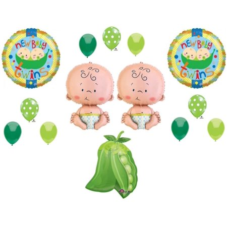 Two Peas in a Pod Twins Baby shower Balloon Decorating Kit Supplies Polka Dots