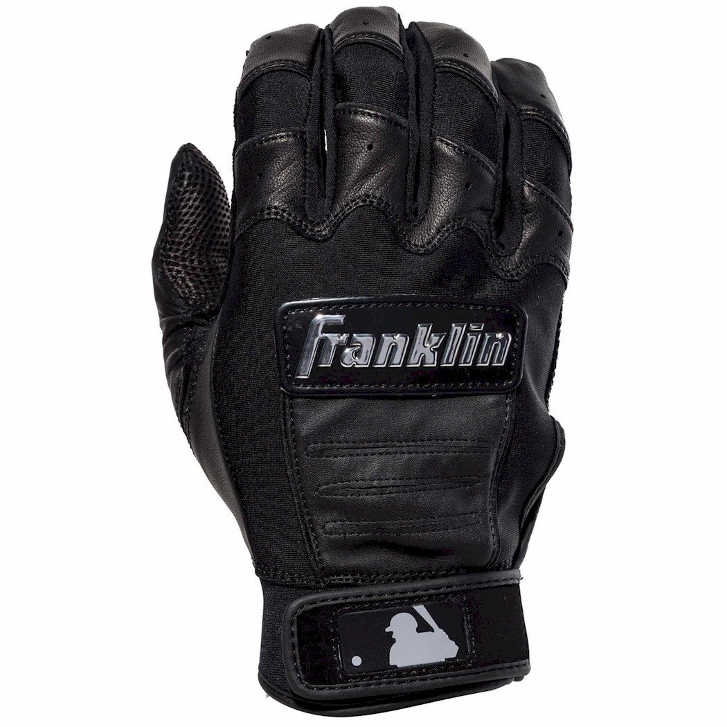 Franklin MLB CFX PRO: FULL COLOR CHROME Adult Batting Gloves, Black Small