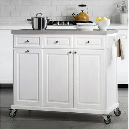 sj collection buckhead portable kitchen island cart