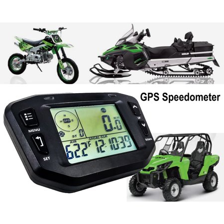 GPS Speedometer Digital Backlit LCD Display Gauge Kit Odometer Hour Meter Voltage Temperature Clock Maintenance Intervals for Offroad Truck Motorcycle ATV UTV SxS Car Marine Boat RV  8 - 36