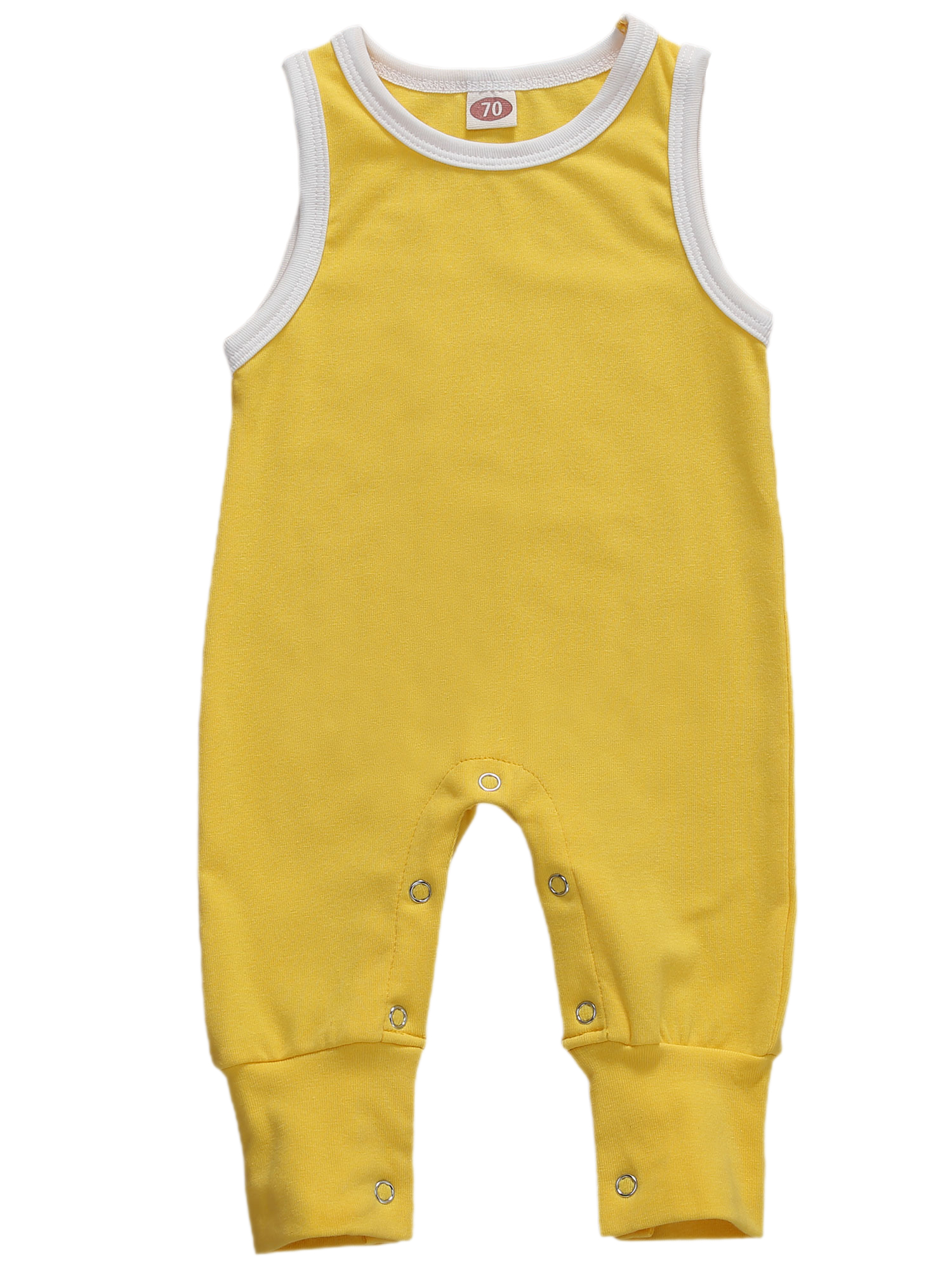 Infant Baby Girls Toddler Sleeveless Summer Strappy Jumpsuit Romper Outfits 0-18