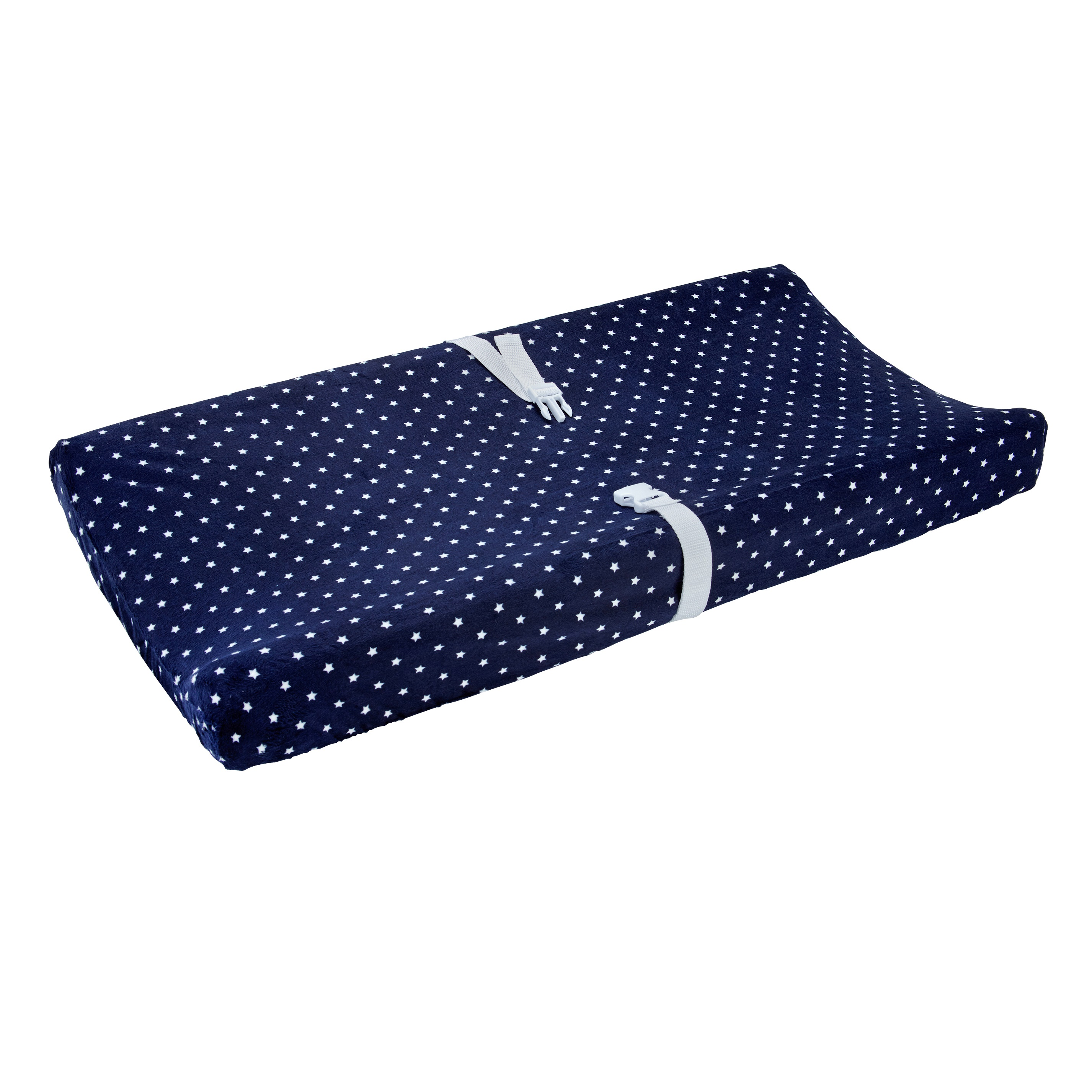 Carter's Changing Pad Cover Plush Velboa - Navy Stars