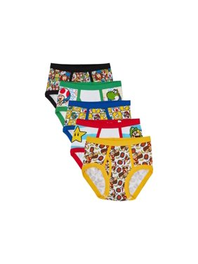 Nintendo Super Mario Bros. Mario; Luigi, Boys Underwear, 5 Pack Briefs (Little Boys & Big Boys)