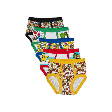 Mario Bros. Boys Underwear, 5 Pack (Cute Mario Bros Halloween)