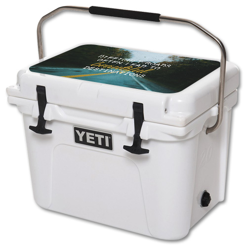 Skin For YETI Roadie 20 qt Cooler Lid – Difficult Roads | MightySkins Protective, Durable, and Unique Vinyl Decal wrap cover | Easy To Apply, Remove, and Change Styles | Made in the USA