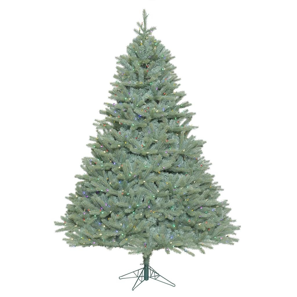 "Vickerman 408520 - 10' x 82"" Colorado Blue Spruce Tree with 1,850 Multi Color LED Lights Christmas Tree (A164787LED)"