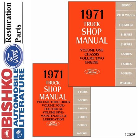 Truck Unit Repair Shop Manual (Bishko OEM Digital Repair Maintenance Shop Manual CD for Ford Truck All Models 1971 )