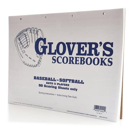 Glovers Baseballsoftball Score Sheets