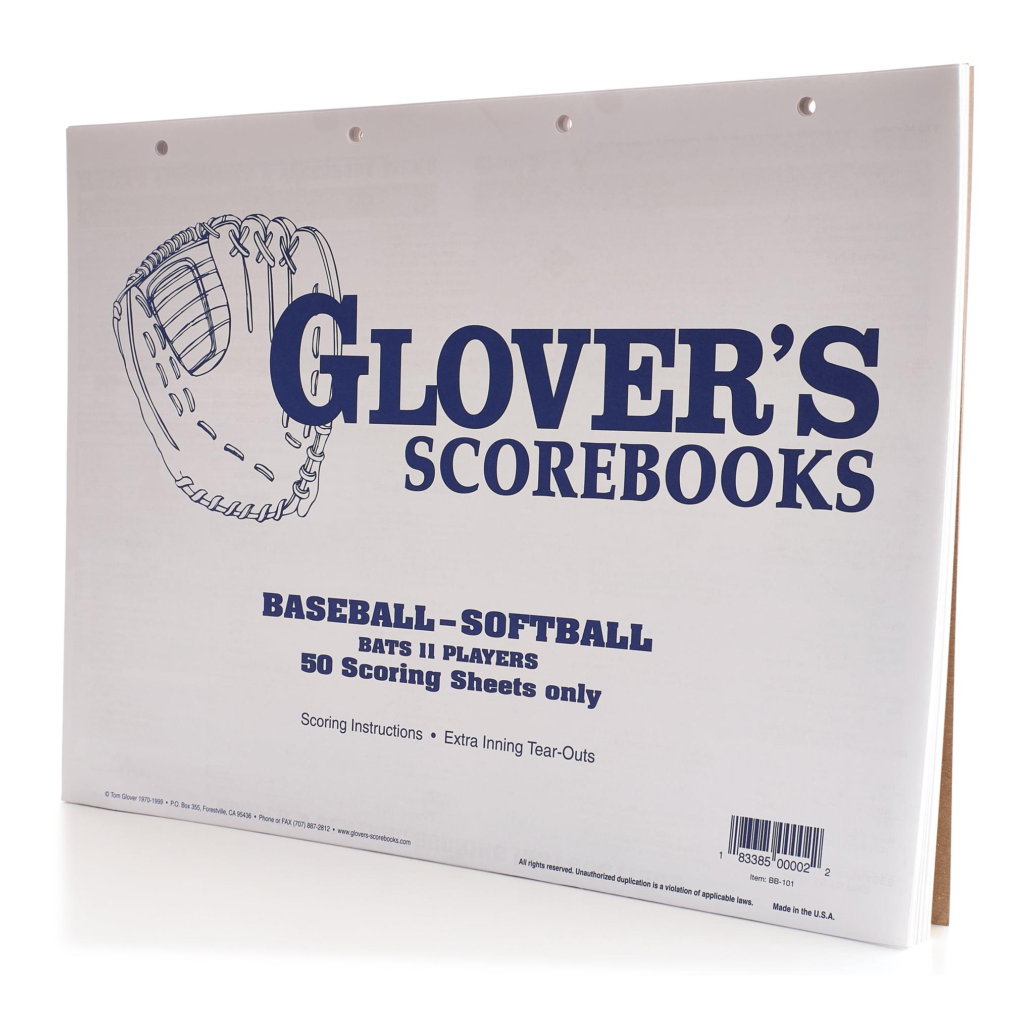 Glover's Baseball/Softball Score Sheets
