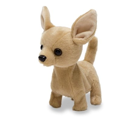 Animated Plush Toy Dog Lola The Chihuahua Barks & Wags Tail,6 Inches, Doggie trots, wags its tail, and makes woof and arf sounds. By Cuddle
