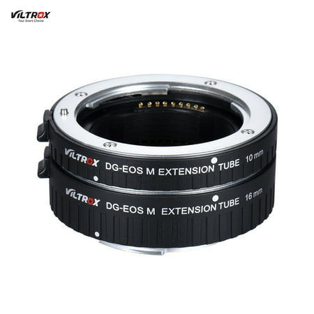 Viltrox DG- M Automatic Extension Tube 10mm and 16mm Auto Focus for Canon EF-M Mount Series Mirrorless Camera and
