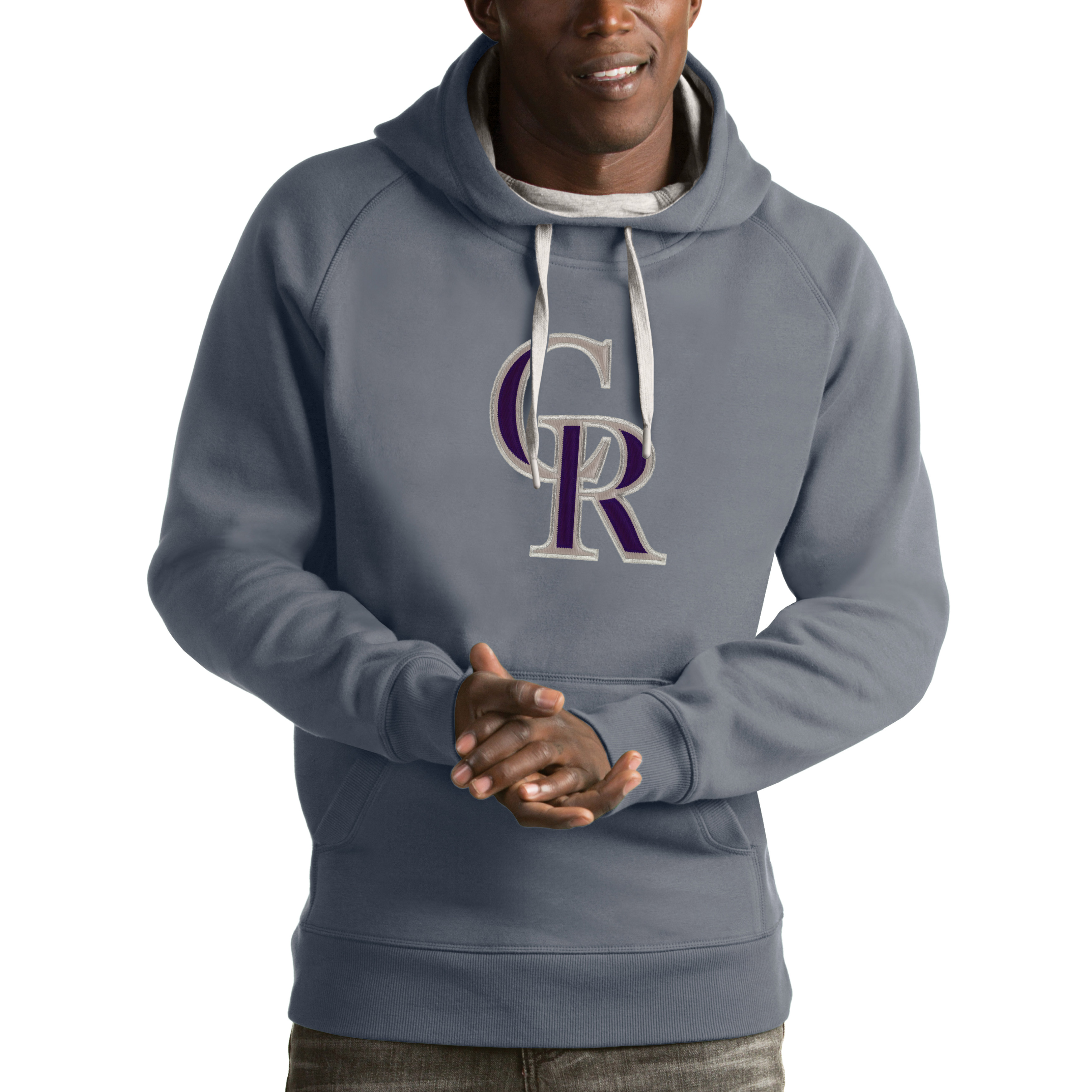 online store 7bb79 f910f Colorado Rockies Antigua Victory Pullover Hoodie - Heathered Gray