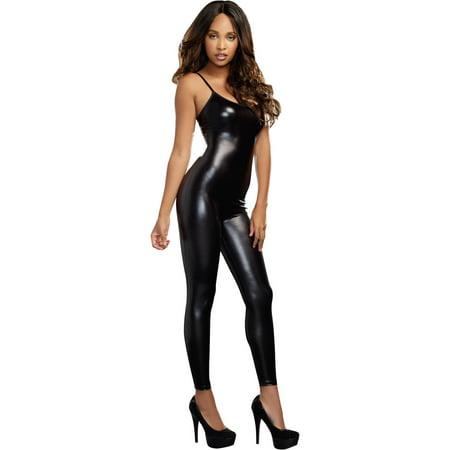 Black Liquid Unitard Women's Adult Halloween - Halloween Costumes Liquid Latex