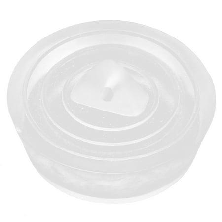 36mm Diameter Water Sink Plug Clear Rubber Disposal