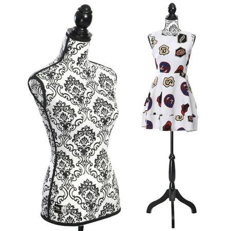 Zimtown Fiberglass Female Mannequin Torso Dress Form Display - Pattern