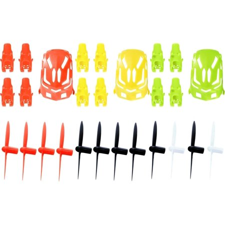 Hubsan Nano Q4 H111  Qty  1  Nano Body Shell H111 01 Green Quadcopter Frame W  Motor Supports  Qty  1  Yellow  Qty  1  Red  Qty  1  Propeller Blades Black   White Propellers Props Prop Set Rotor Blade