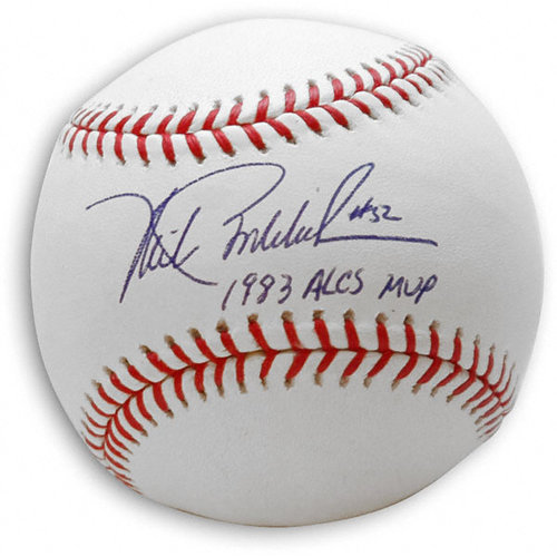 MLB - Mike Boddicker Autographed Baseball with 1983 ALCS MVP Inscription