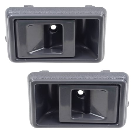 Geo Prism Toyota (Pair Set Inside Inner Grey Door Handles Replacement for Geo Prizm Toyota 4Runner Camry Corolla Tacoma Pickup Truck 95007057 95007056)