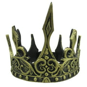Costume Accessory Dark Queen King Crown, Gold, One Size