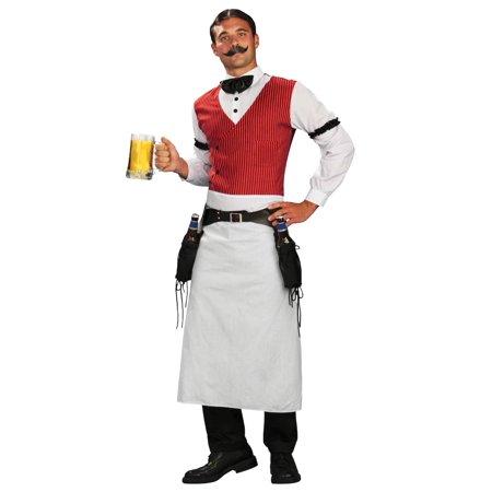 Plus Size Saloon Bartender Costume (Mens Saloon Costume)