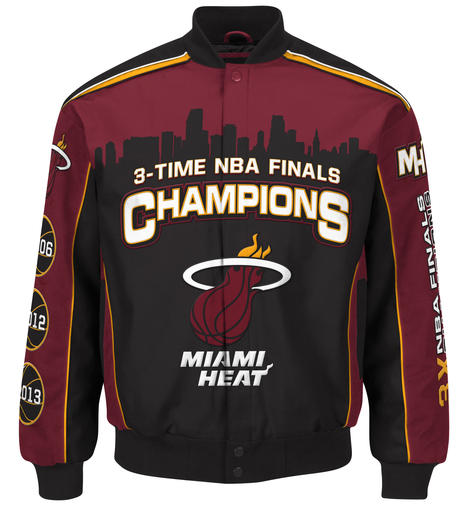 Miami Heat Men's NBA G-III NBA Finals Commemorative Premium Twill Jacket by G-III Sports
