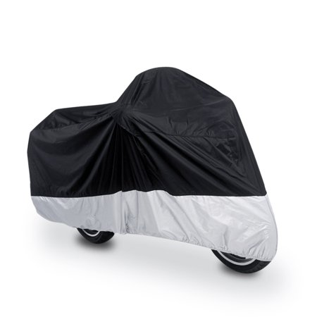 XXXL 180T Motorcycle Cover Rain Dust Black+Silver UV Protection For Harley Davidson - image 7 de 7