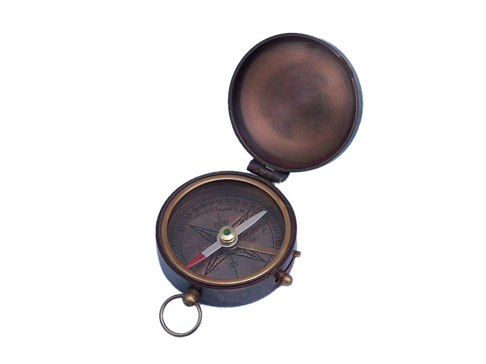 "Click here to buy Antique Copper Lewis & Clark Pocket Compass 3"" Travel Compass Marine Compass by Handcrafted Nautical Decor."