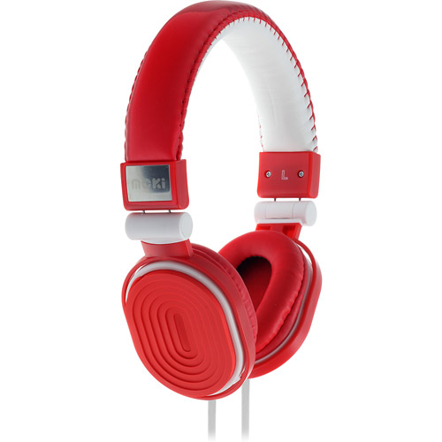 Moki Popper Butterfly Blue, Soft Cushion DJ Style, Swivel Ear Cup Headphones