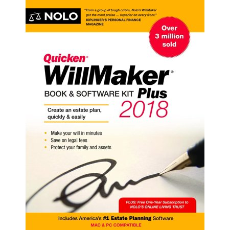 Quicken Willmaker Plus 2018 Edition  Book   Software Kit  Paperback