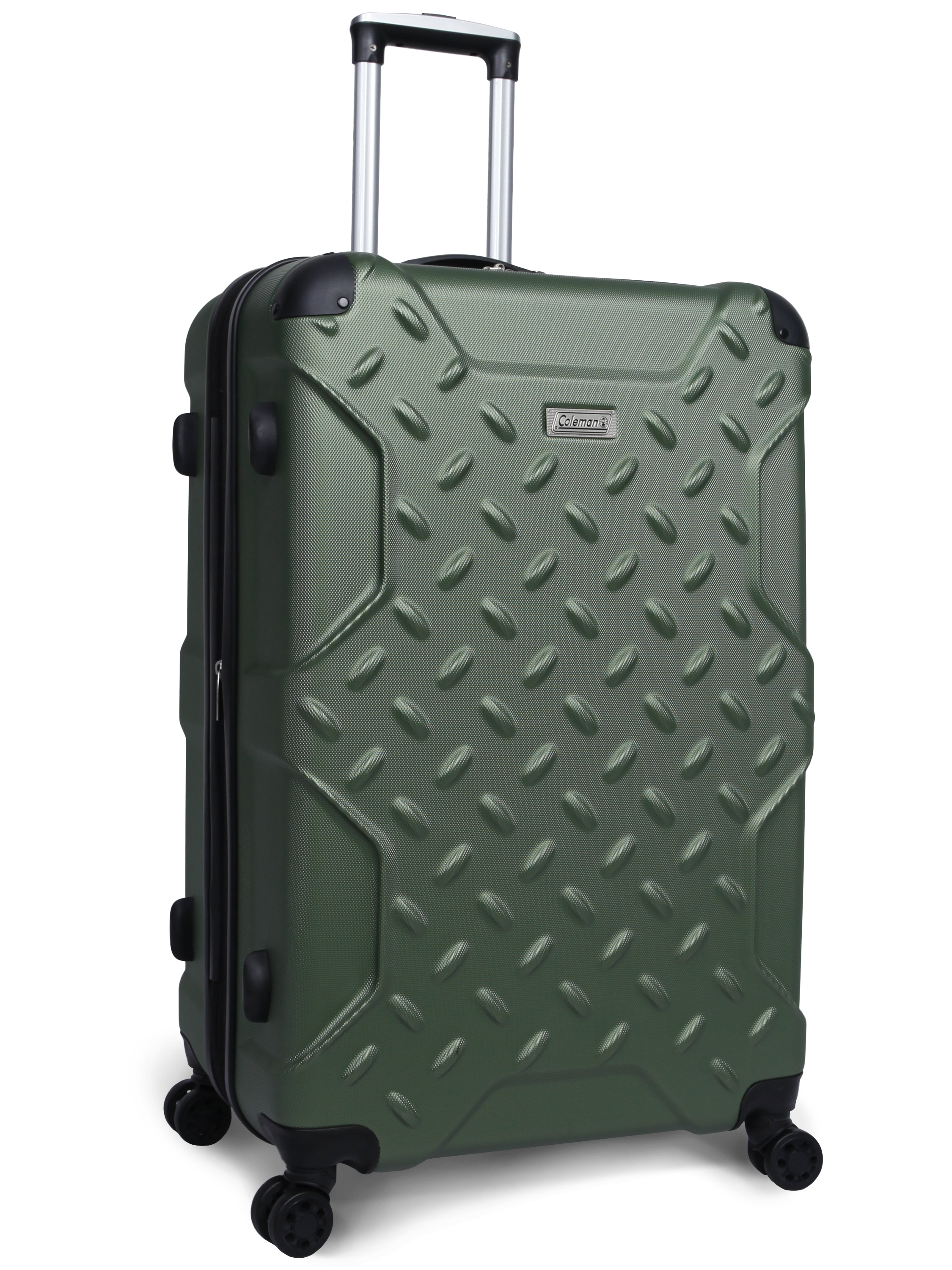 "Coleman 28"" Ration Hard Side Upright Spinner Luggage, Green"