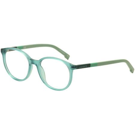 790755e9b513 lacoste kids youth eyeglasses l3619 l/3619 444 aqua green optical frame  48mm - Walmart.com