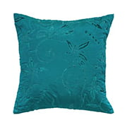 """Rizzy Home Decorative Poly Filled Throw Pillow Floral 18""""X18"""" Blue"""