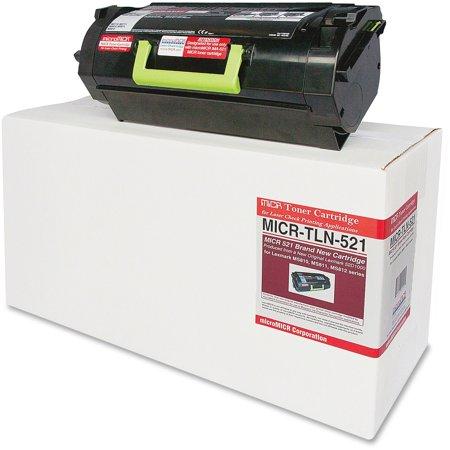 microMICR, MCMMICRTLN521, MICR Toner Cartridge - Alternative for Lexmark MS810, 1 Each 5 Micr Toner