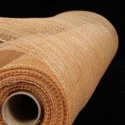 "Antique Gold Deco Mesh Craft Ribbon 21"" x 60 Yards"