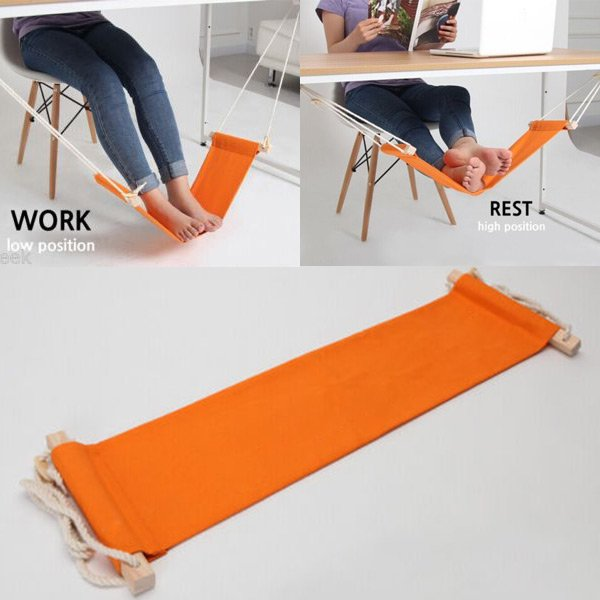 Portable Mini Office Foot Rest Stand Adjustable Desk Feet Hammock