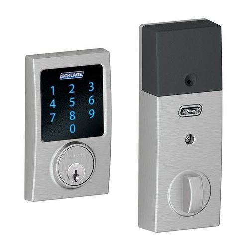 Schlage Connect™ Touchscreen Deadbolt with alarm with Century Trim