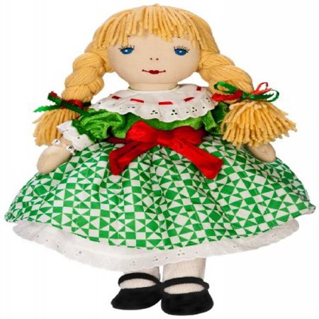 KatJan Best Pals Holiday Janet Doll in Dress Designed by Jim Shore