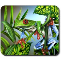 Art Plates Mouse Pad - Red Toe Tree Frog