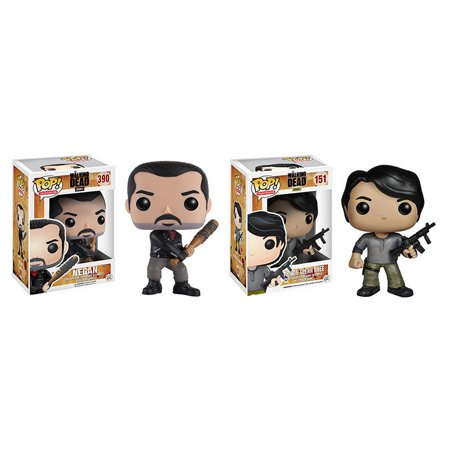 Collectible Toy And Character Display Figure The Walking Dead Negan Pop  Vinyl Figure And Funko Pop  Walking Dead Prison Glenn