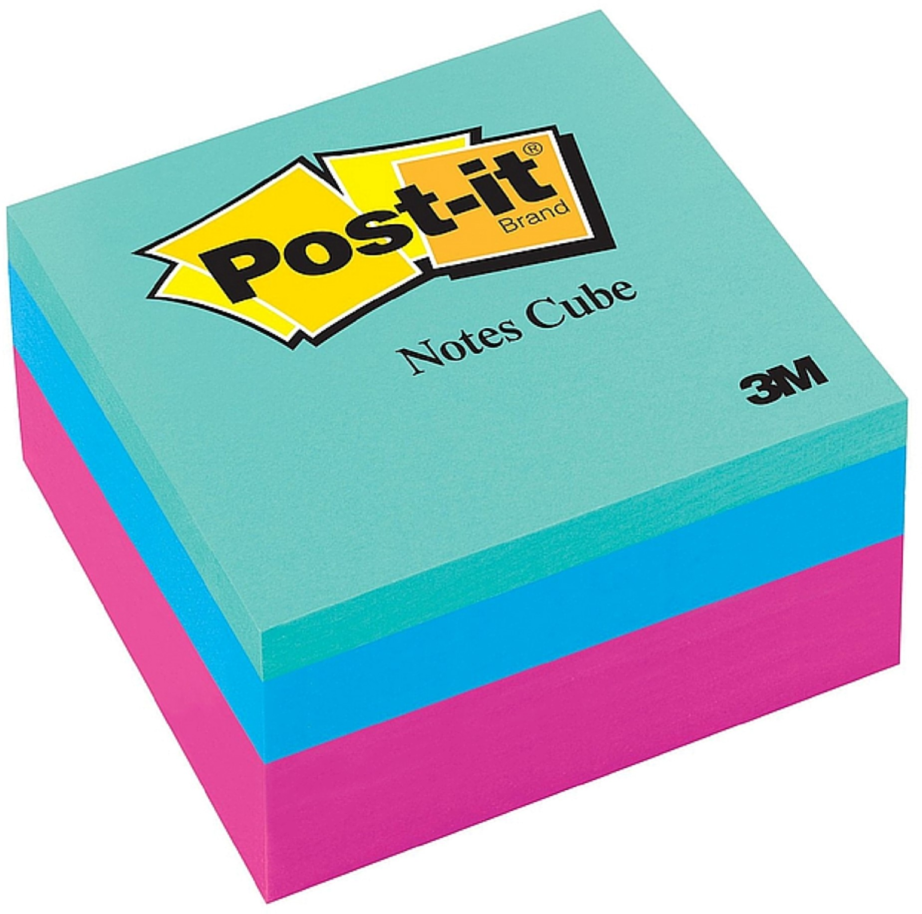 Post-it Original Cubes, 3 x 3, Pink Wave, 400/Pad