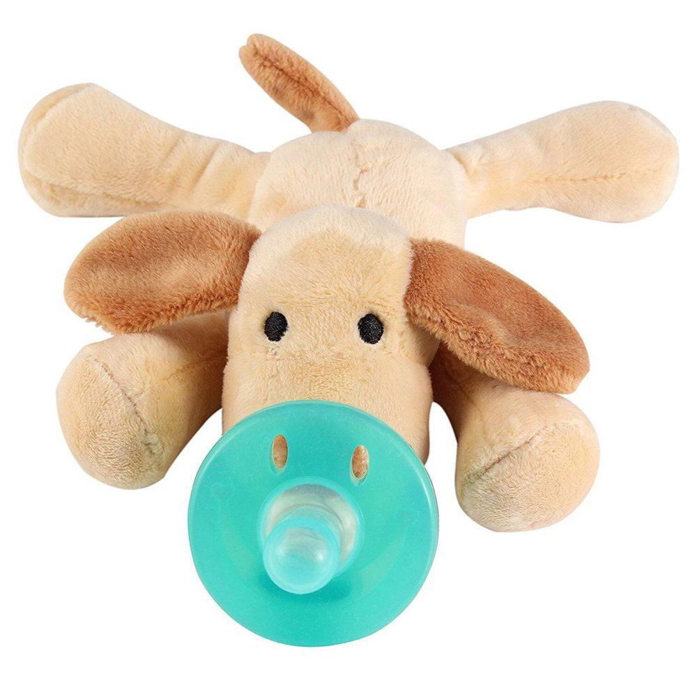 Cute Baby Pacifier Holder Stuffed Animal Baby Nipples Pacifiers
