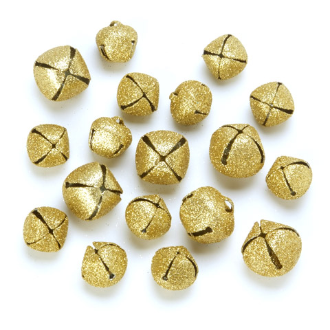 Craft Jingle Bells - Gold - Assorted Sizes - 18 pieces