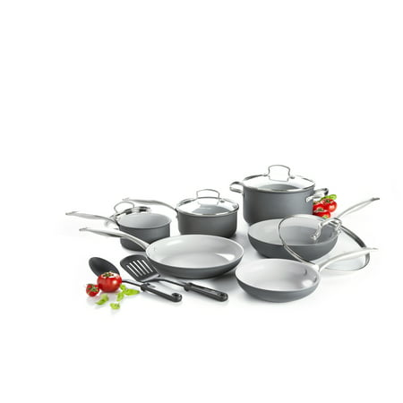 Ronbow Ceramic - GreenLife Ceramic Non-Stick 12 Piece Cookware Set