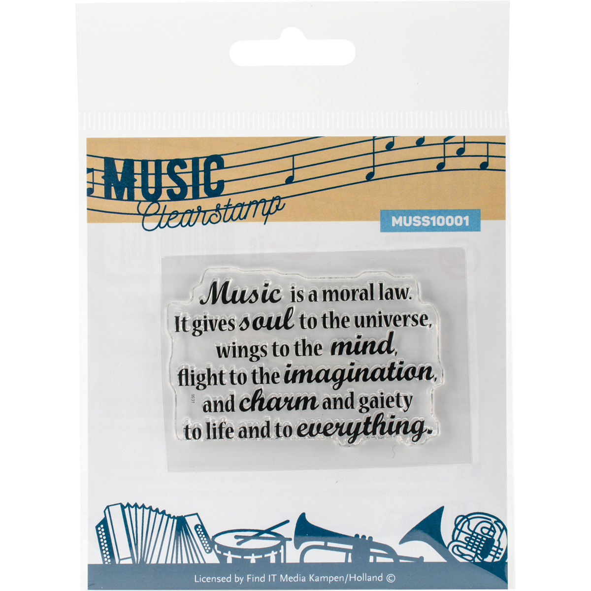 "Find It Trading Clear Stamp 2""X3""-Music Series"