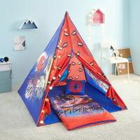Marvel Spider Man 4 Piece Kids Slumber Teepee Tent Set